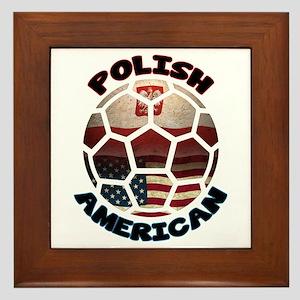 Polish American Soccer Football Framed Tile