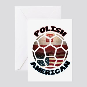 Polish American Soccer Football Greeting Card