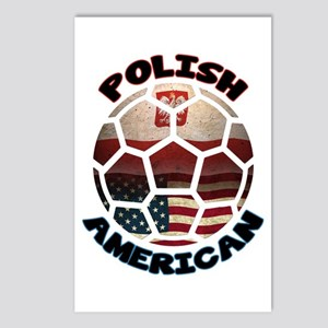 Polish American Soccer Football Postcards (Package