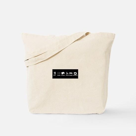 Eat, train, study, love, sleep, repeat Tote Bag