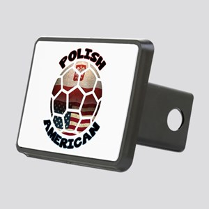 Polish American Soccer Football Rectangular Hitch