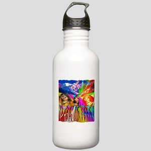 pakistan art illustration Stainless Water Bottle 1