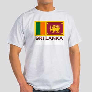 Sri Lanka Flag Stuff Ash Grey T-Shirt