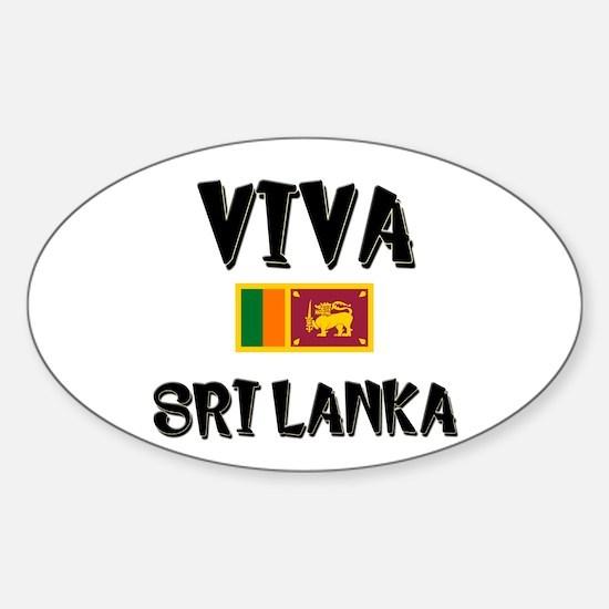 Viva Sri Lanka Oval Decal