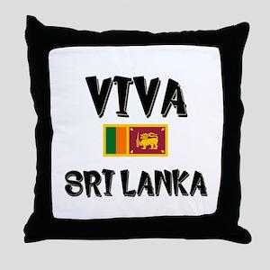 Viva Sri Lanka Throw Pillow