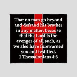 1 Thessalonians 4:6 Throw Blanket