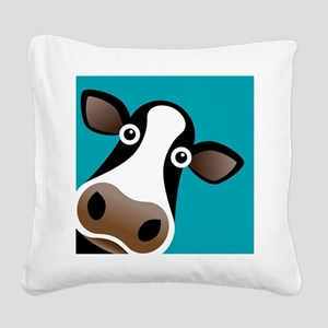 Moo Cow! Square Canvas Pillow