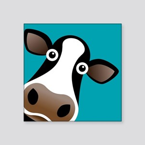 "Moo Cow! Square Sticker 3"" x 3"""
