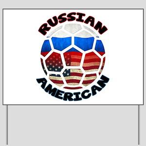 Russian American Football Soccer Yard Sign