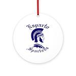 Spartan Ornament (Round)