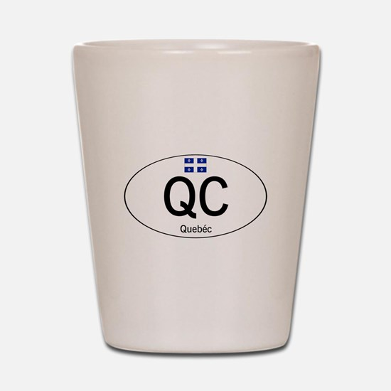 Car code Quebec Shot Glass