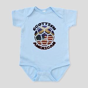 Scottish American Soccer Football Infant Bodysuit
