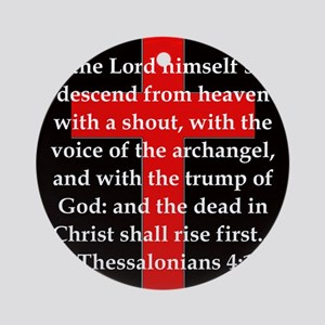 1 Thessalonians 4:16 Round Ornament