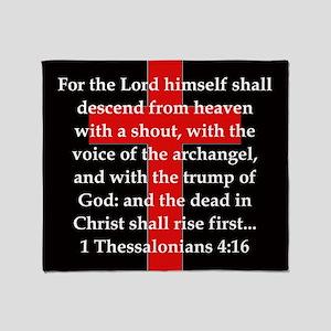 1 Thessalonians 4:16 Throw Blanket