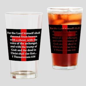 1 Thessalonians 4:16 Drinking Glass