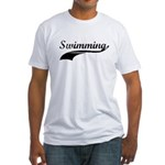 Retro Swimming Fitted T-Shirt