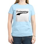 Retro Swimming Women's Pink T-Shirt