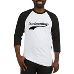Retro Swimming Baseball Jersey