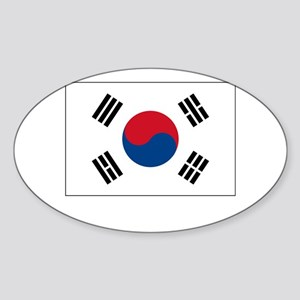 South Korea Flag Picture Oval Sticker