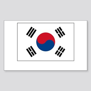 South Korea Flag Picture Rectangle Sticker