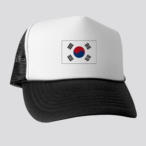 South Korea Flag Picture Trucker Hat