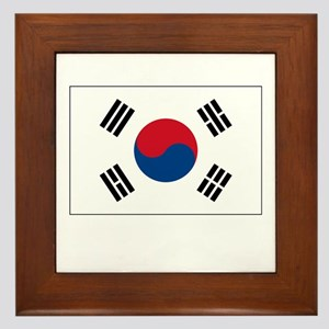 South Korea Flag Picture Framed Tile