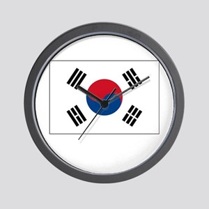 South Korea Flag Picture Wall Clock