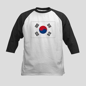 South Korea Flag Picture Kids Baseball Jersey