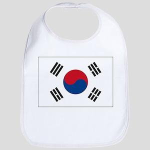 South Korea Flag Picture Bib