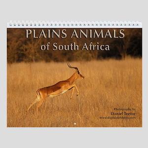 S. African Plains Animals Wall Calendar
