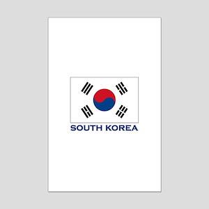 South Korea Flag Stuff Mini Poster Print