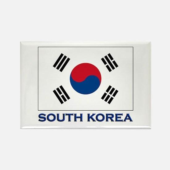 South Korea Flag Stuff Rectangle Magnet