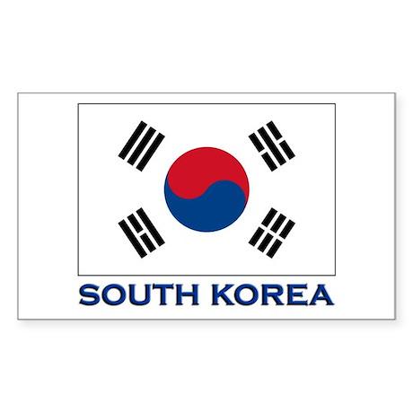 South Korea Flag Stuff Rectangle Sticker