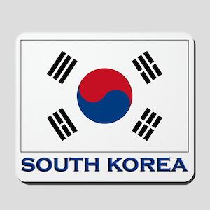 South Korea Flag Stuff Mousepad