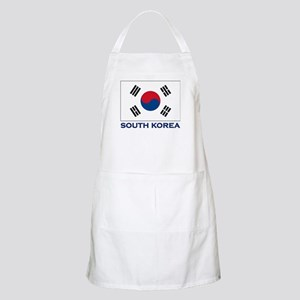 South Korea Flag Stuff BBQ Apron