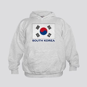 South Korea Flag Stuff Kids Hoodie