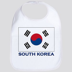 South Korea Flag Stuff Bib
