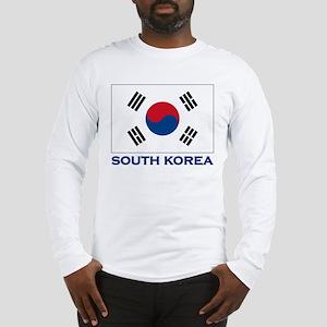 South Korea Flag Stuff Long Sleeve T-Shirt