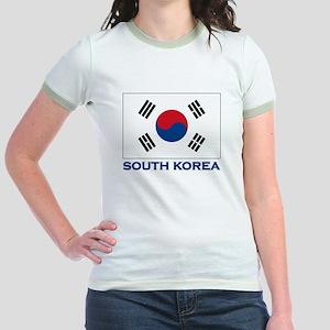 South Korea Flag Stuff Jr. Ringer T-Shirt