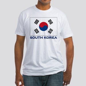 South Korea Flag Stuff Fitted T-Shirt