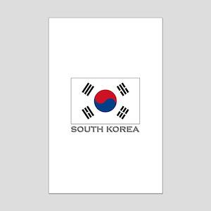 South Korea Flag Gear Mini Poster Print