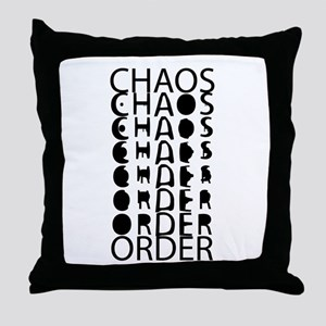 Chaos to Order Throw Pillow