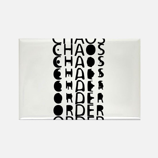 Chaos to Order Rectangle Magnet