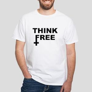 Think Free White T-Shirt