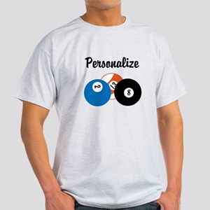 Personalize Pool Balls T-Shirt