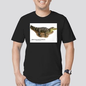 Spectacled Caiman Men's Fitted T-Shirt (dark)