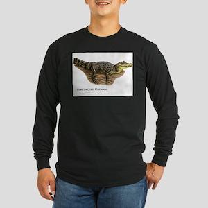 Spectacled Caiman Long Sleeve Dark T-Shirt