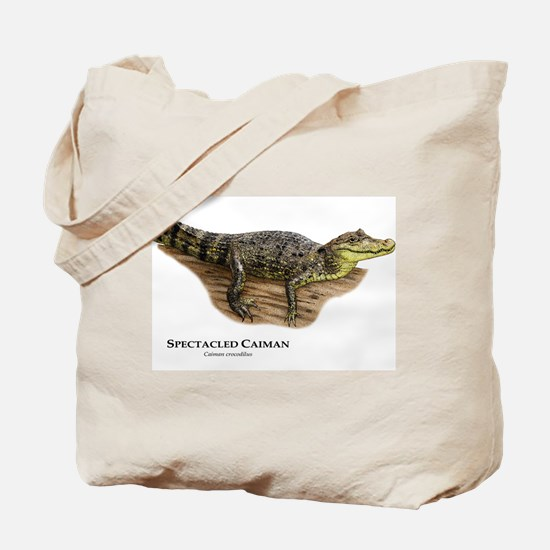 Spectacled Caiman Tote Bag