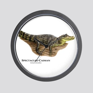 Spectacled Caiman Wall Clock