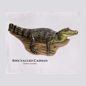 Spectacled Caiman Throw Blanket